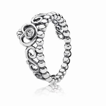 Pandora My Princess Stackable Ring, Clear CZ 190880CZ