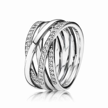 Pandora Entwined Ring, Clear CZ 190919CZ