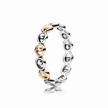 Peacock Glory Stackable PANDORA Gold & Silver Ring 190961