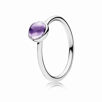 Pandora Poetic Droplet Ring, Purple CZ 190983ACZ