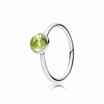 Pandora August Droplet Ring, Peridot 191012PE