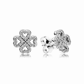 Pandora Petals of Love Stud Earrings, Clear CZ 290626CZ