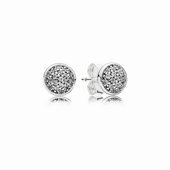 Pandora Dazzling Droplets Stud Earrings, Clear CZ 290726CZ
