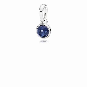 Pandora September Droplet Pendant, Synthetic Sapphire 390396SSA