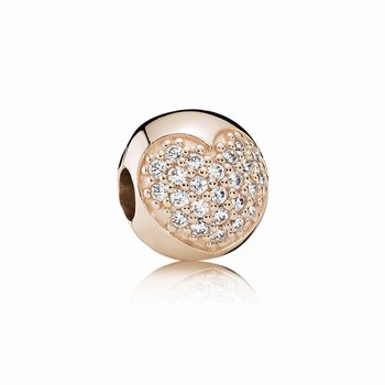 Pandora Love Of My Life Clip, PANDORA Rose & CZ 781053CZ