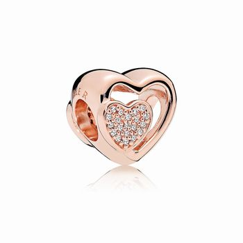 Pandora Joined Together Charm, PANDORA Rose & Clear CZ 781806CZ