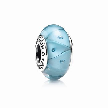 Turquoise Looking Glass Charm, Murano Glass 790924
