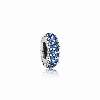 Pandora Inspiration Within Spacer, Blue Crystal 791359NCB