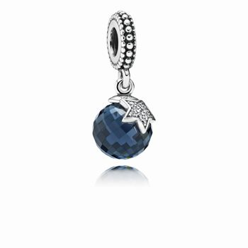 Light of the Moon Blue Zirconia Hanging Charm - PANDORA 791392NB