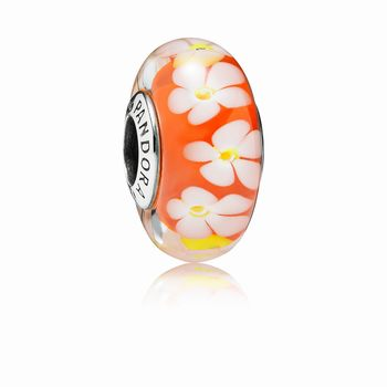 Tropical Flower Glass Murano Charm 791624