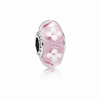Pandora Pink Field of Flowers Charm, Murano Glass 791665