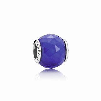 Geometric Facets Charm, Royal Blue Crystal 791722NCB