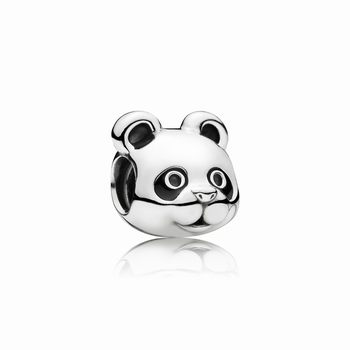 Panda silver charm with black enamel 791745EN16
