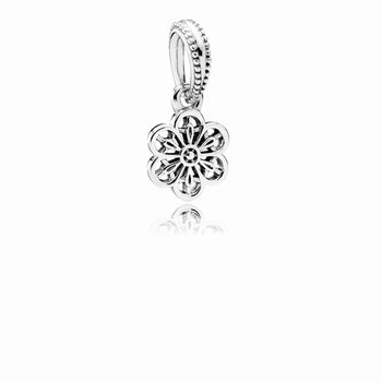 Pandora Floral Daisy Lace Dangle Charm 791835