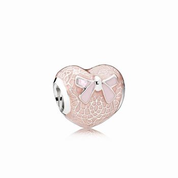 Pandora Pink Lace and Bow Charm 791886EN113
