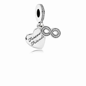 Pandora Forever Friends Dangle Charm, Clear CZ 791948CZ