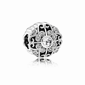 Pandora Fairytale Bloom Charm, Clear CZ 791961CZ