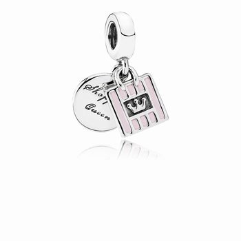 Pandora Shopping Queen Dangle Charm, Soft Pink Enamel 791985EN40