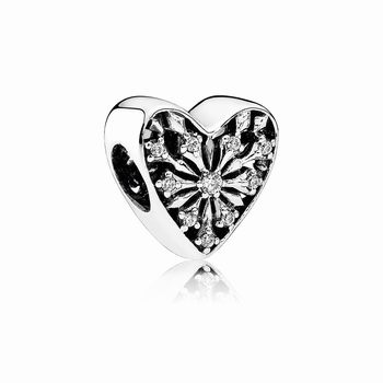 Pandora Heart of Winter Charm, Clear CZ 791996CZ