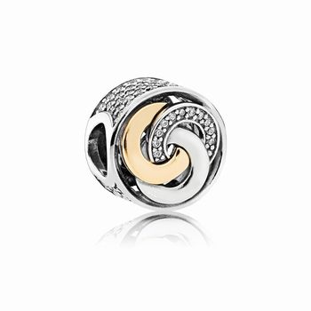 Pandora Interlinked Circles Charm, Clear CZ 792090CZ