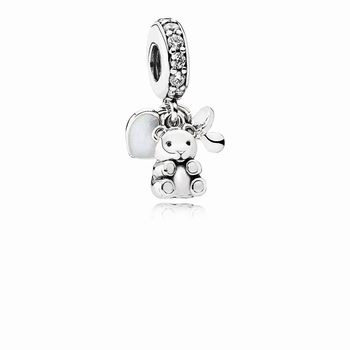 Pandora Baby Treasures Dangle Charm, Clear CZ 792100CZ