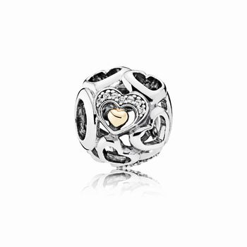 Pandora Heart of Romance Charm, Clear CZ 792108CZ