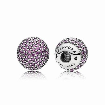 Pandora Pave Open Bangle Caps, Fancy Purple CZ 796481CFP